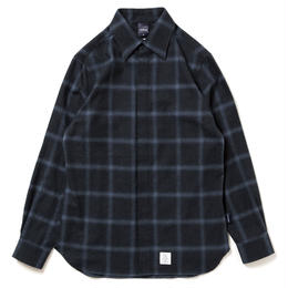 "APPLEBUM ""Navy Check Fly Front Shirt"""