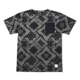 "APPLEBUM ""Indigo Paisley Pocket T-shirt"""