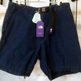 "THE NORTH FACE PURPLE LABEL ""Indigo Typewriter Cloth Mountain Wind Shorts"""