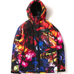 """Flower Black"" Innercotton Hood Jacket"