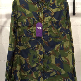 "THE NORTH FACE PURPLE LABEL ""CAMOUFLAGE PRINT SHIRT"""