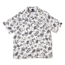 Monotone Aloha Shirt [White]