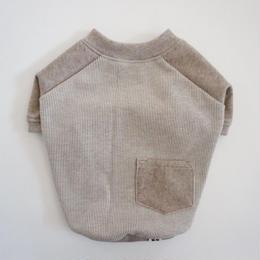 ヒッコリーデニムのラグランTシャツ// ブラウン       [フレブル服TiTiTi]