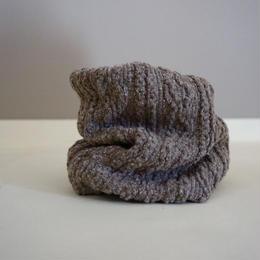 アラン編み風ニットのスヌード//セピア