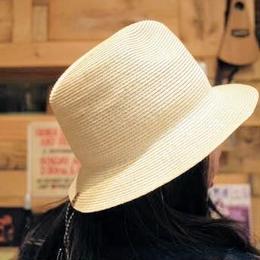 andwander/braid hat  -beige-