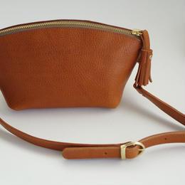 mini bag キャメル
