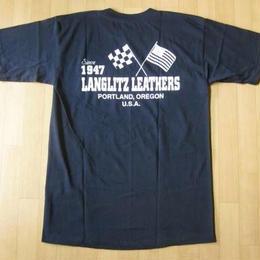 USA製 LANGLITZ LEATHERS Tシャツ Mラングリッツレザー