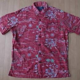 90's 00's POLO SPORT アロハ シャツ M RALPH LAURENハワイアン1【deg】