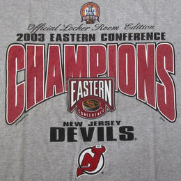 00's New Jersey Devils 2002-2003 EASTERN CONFERENCE CHAMPIONS Tシャツ 2XLニュージャージーデビルス