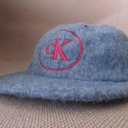 90's Calvin Klein Jeans CK 刺繍 フリース キャップ CAP ハット カルバンクラインジーンズ【deg】