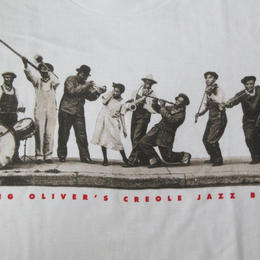 90's King Oliver's Creole Jazz Band FOTOFOLIO フォト TシャツXLキング オリヴァーOliverジャズLouis Armstrong