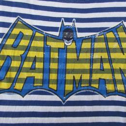 X-girl DC Comics コラボ BATMAN ボーダー Tシャツ 2 ホワイト ブルー系 エックスガール コミックス バットマン アメコミ 半袖 カットソー【deg】