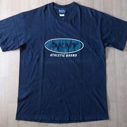 90's USA製 DKNY Tシャツ M Donna Karan New York ダナキャラン ニューヨーク ビックシルエット XL【deg】