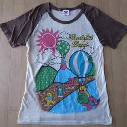 デッドベア ラグランスリーブ Tシャツ Dead Bear Grateful 山ガール グレートフルデッド【deg】