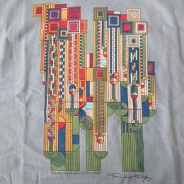 フランク・ロイド・ライト Saguaro Forms and Cactus Flowers Tシャツ Frank Lloyd Wright 近代建築 建築家 カットソー ART芸術【deg】