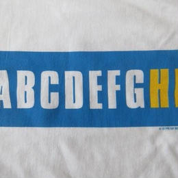 90's KAY ROSEN ABCDEFGHI BOXロゴTシャツ