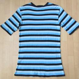 日本製 FTC ワンポイント ロゴ ボーダー Tシャツ L MADE IN JAPAN FOR THE CITY エフティーシー カットソー ピスト