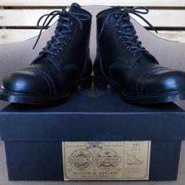 RRL Bowery Boots・レザー素材・ブーツ サイズ・9D(26~26.5cm位) 左右の踵のヒール・右(3 1/2)、左(3 3/8) 正規品 -322