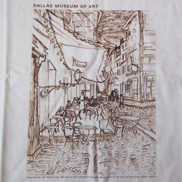 フィンセント・ファン・ゴッホ 夜のカフェテラス Tシャツ M 白Vincent van Gogh Terrasse du cafe le soir ダラス 美術館 ART芸術 現代美術【deg】