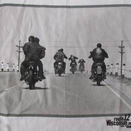 90's ダニー・ライアン FOTOFOLIO ROUTE 12 フォト Tシャツ M 白 DANNY LYON The Bikeriders バイカーズ バイク 写真家 ART【deg】
