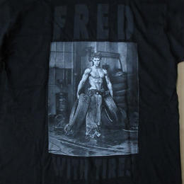 80's 90's USA製 ハーブ リッツ Fred with Tires Hollywood フォト TシャツL Herb Ritts写真家 リチャード ギア マドンナ【deg】