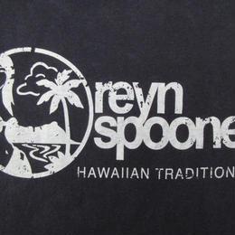 reyn spooner ロゴ Tシャツ M ネイビー レインスプーナー HAWAIIAN TRADITIONALS 水着 女性 ハワイ 風景 半袖 カットソー