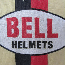 90's USA製 BELL HELMETS オーバル ロゴ スター TシャツSベル ヘルメットHELMET RACING DIVISIONバイク ケニー・ロバーツ