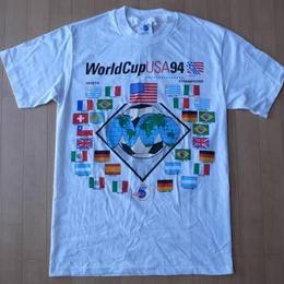 90's USA製 World Cup USA 1994 国旗柄 TシャツSサッカー ワールドカップ星条旗【deg】
