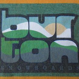 90's USA製 バートン BOXロゴ Tシャツ L イエロー系 burton SNOWBOARDS スノーボード ボックス 半袖 カットソー