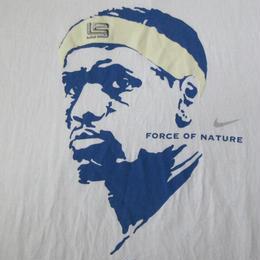 00's メキシコ製 NIKE LeBron James フェイス FORCE OF NATURE Tシャツ XLナイキ レブロン ジェームズNBAクリーブランド