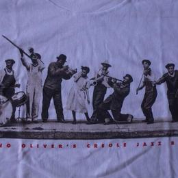 90's キング オリバーズ クレオール ジャズ バンド フォトTシャツXL KING OLIVER'S CREOLE JAZZ BANDルイアームストロング【deg】