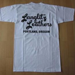 USA製 LANGLITZ LEATHERS Tシャツ Sラングリッツレザー