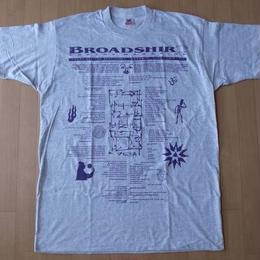 90's USA製 BROADSHIRT POETRY MAGAZINE 1995 TシャツXL ビッグシルエット ポエトリーマガジン ビートニク beatnik Allen【deg】