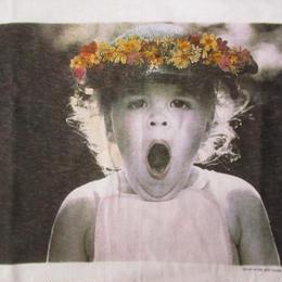 90's USA製 ベッツィ・キャメロン FOTOFOLIO OH MY! フォト Tシャツ M 白 Betsy Cameron Little Angels写真 写真家ART芸術 【deg】
