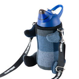 ANIMALBOTTLE  Check BLUE (thermo mug)