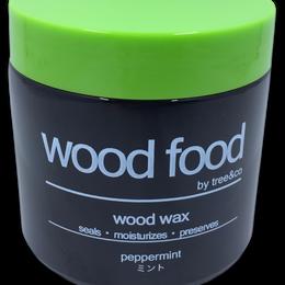 天然艶出し蜜蝋ワックス『wood food』ーミント