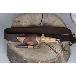 Helleknives Utvaer Horizontal Carry Leather Sheath