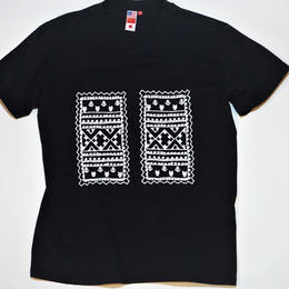 UUU. -Racial Embroidery Tee(BLACK)-