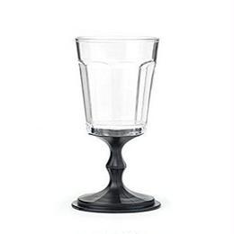 Kikkerland Stacking Wine Glass, Black, Set of 2