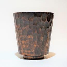 漆器くにもと×Tsugiki-拭き漆 彫刻カップ-