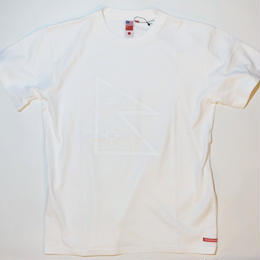 UUU. -Nepal Flag T-Shirt(WHITE)-