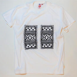 UUU. -Racial Embroidery Tee(WHITE)-