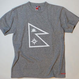 UUU. -Nepal Flag T-Shirt(GRAY)-