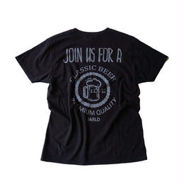 ah-t×JARLD VネックTシャツ BEERTシャツ