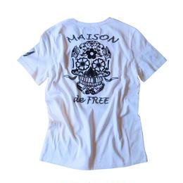 MEISON de FREE 手刺繍ビーズTシャツ