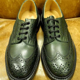 17.12  Rejected Tricker's / Green / Country Full Brogue Shoes  /   Commando  W Sole