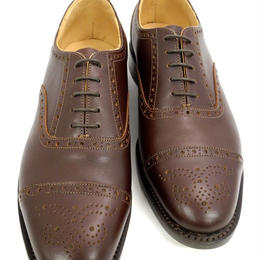 UK Original / Semi Brogue Shoes / Brown / Size8 half