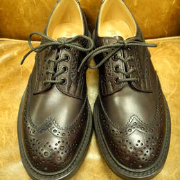 17.06  Rejected Tricker's / Burgundy / Country Full Brogue Shoes  / Commando W Sole