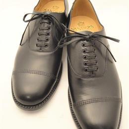 Sanders  / Military Cap Oxford Shoes / Black