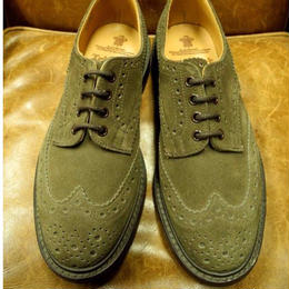 17.15 Rejected Tricker's / Brown Suede / Country Full Brogue Shoes / Dainite W Sole / Size 6